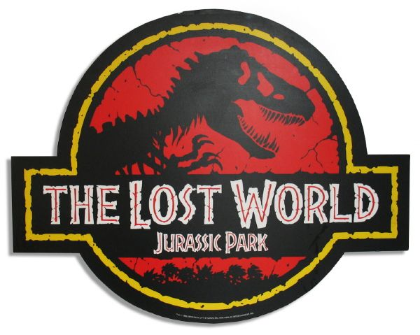 ''The Lost World: Jurassic Park'' Original Circular Movie Sign