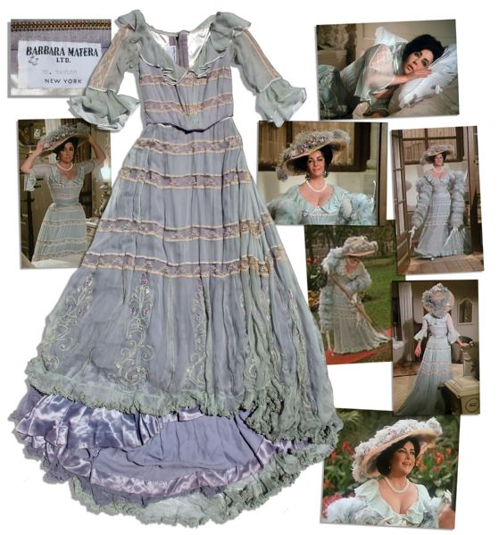 Elizabeth Taylor Costume Auction Elizabeth Taylor Screen-Worn Gown From the Film Adaptation of the Hit Stephen Sondheim Musical, ''A Little Night Music''