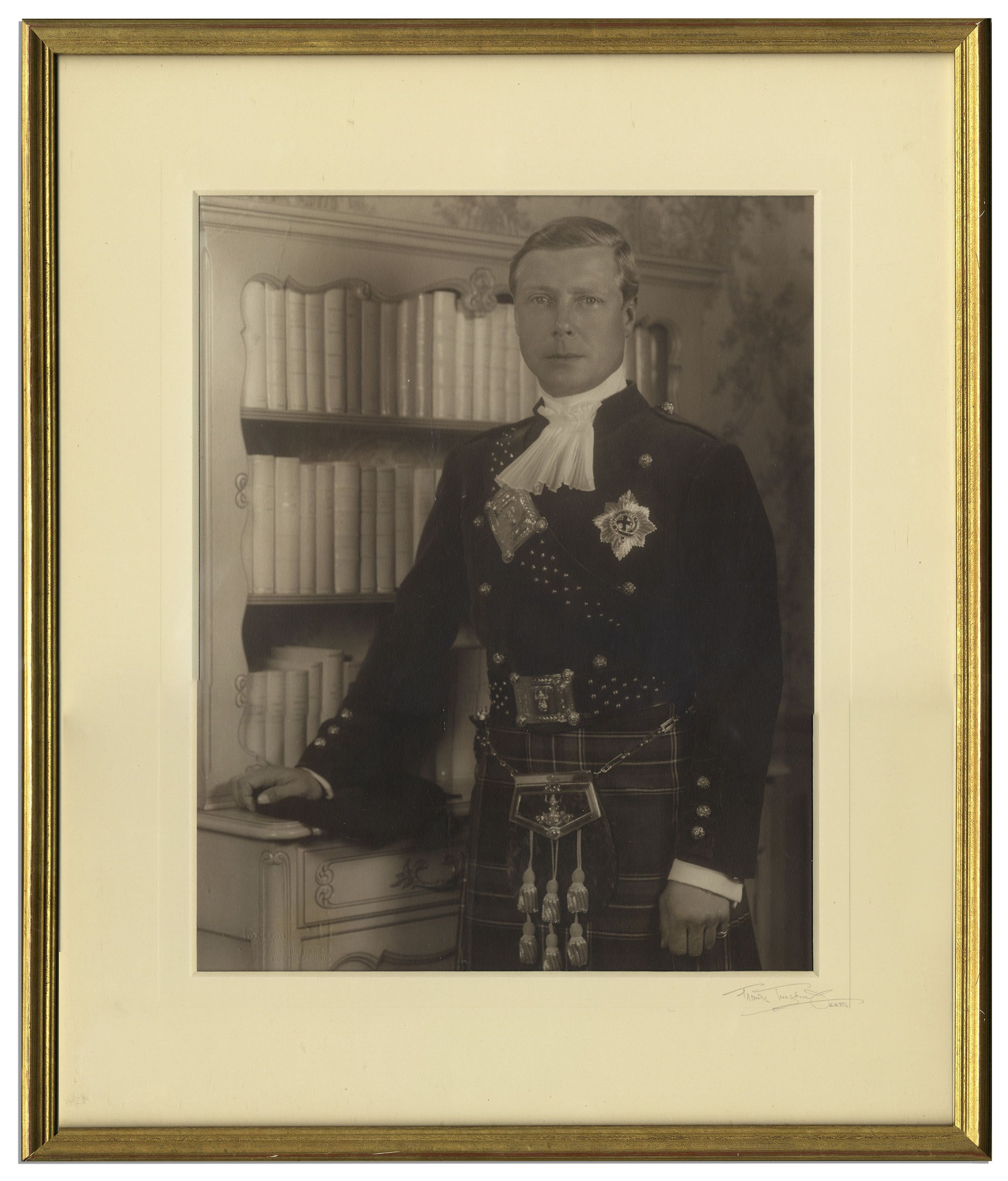 King Edward Memorabilia King Edward VIII Photograph Owned by Edward & Wallis -- From The Famous Sotheby's 1997 Auction of Property of The Duke & Duchess of Windsor