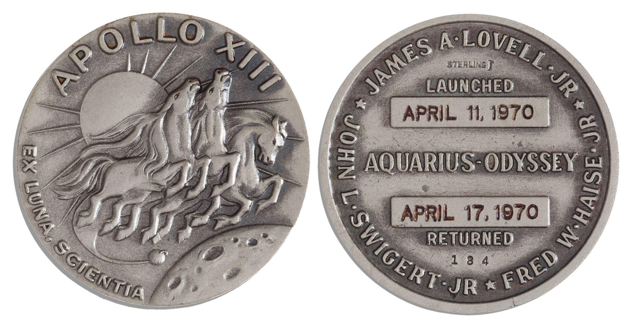 silver medallion apollo 11 coin - photo #15