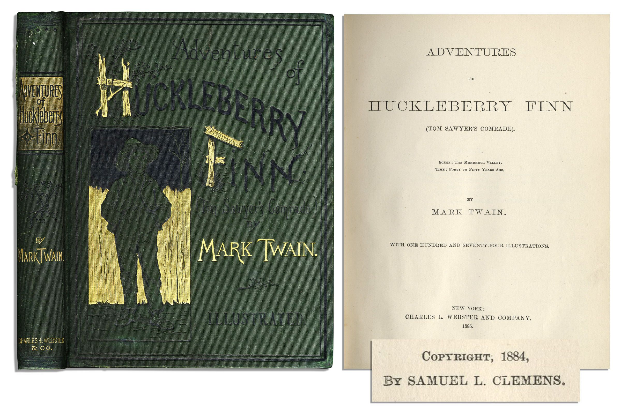 Lot Detail - First Edition, First Printing of Mark Twain's ...