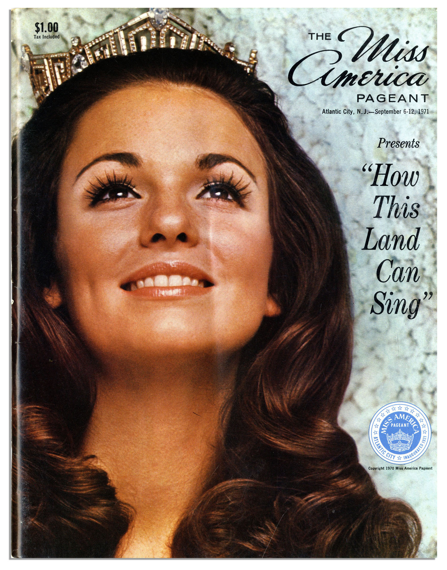 Lot Detail 1971 Miss America Pageant Program With