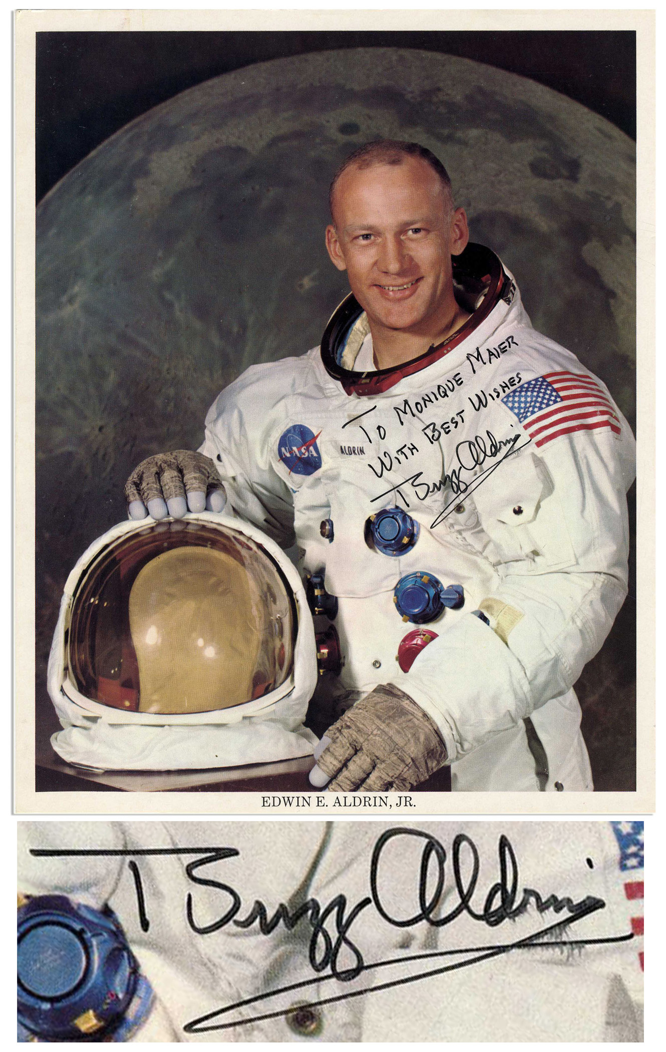 Lot Detail - Buzz Aldrin Signed 8'' x 10'' Glossy Photo ...