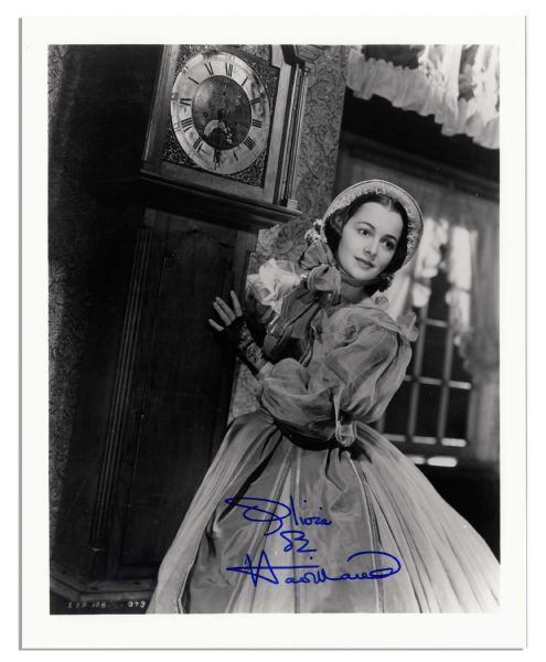 8'' x 10'' Signed Olivia de Havilland Photo Still from ''Gone With The Wind'' -- Glossy, Signed Clearly, Fine Condition -- With Wehrmann COA