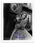 8 x 10 Signed Olivia de Havilland Photo Still from Gone With The Wind -- Glossy, Signed Clearly, Fine Condition -- With Wehrmann COA