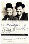 Laurel & Hardy Signed 10 x 8 Photo