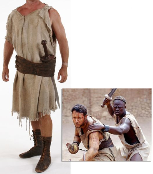 Screen-Worn Costume From ''Gladiator'' -- The Moroccan Arena Scenes