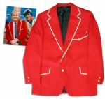Iconic Captain Kangaroo Screen-Worn Red Jacket From 1974