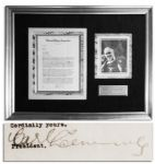 Carl Laemmle 1931 Letter Signed Regarding Universal Studios -- ...[Draculas] success has prompted us to arrange for the production of...Frankenstein by Mary Shelley...