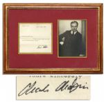 Charlie Chaplin Typed Letter Signed -- ...Thank you very much for your kind and interesting letter... -- With a JSA COA
