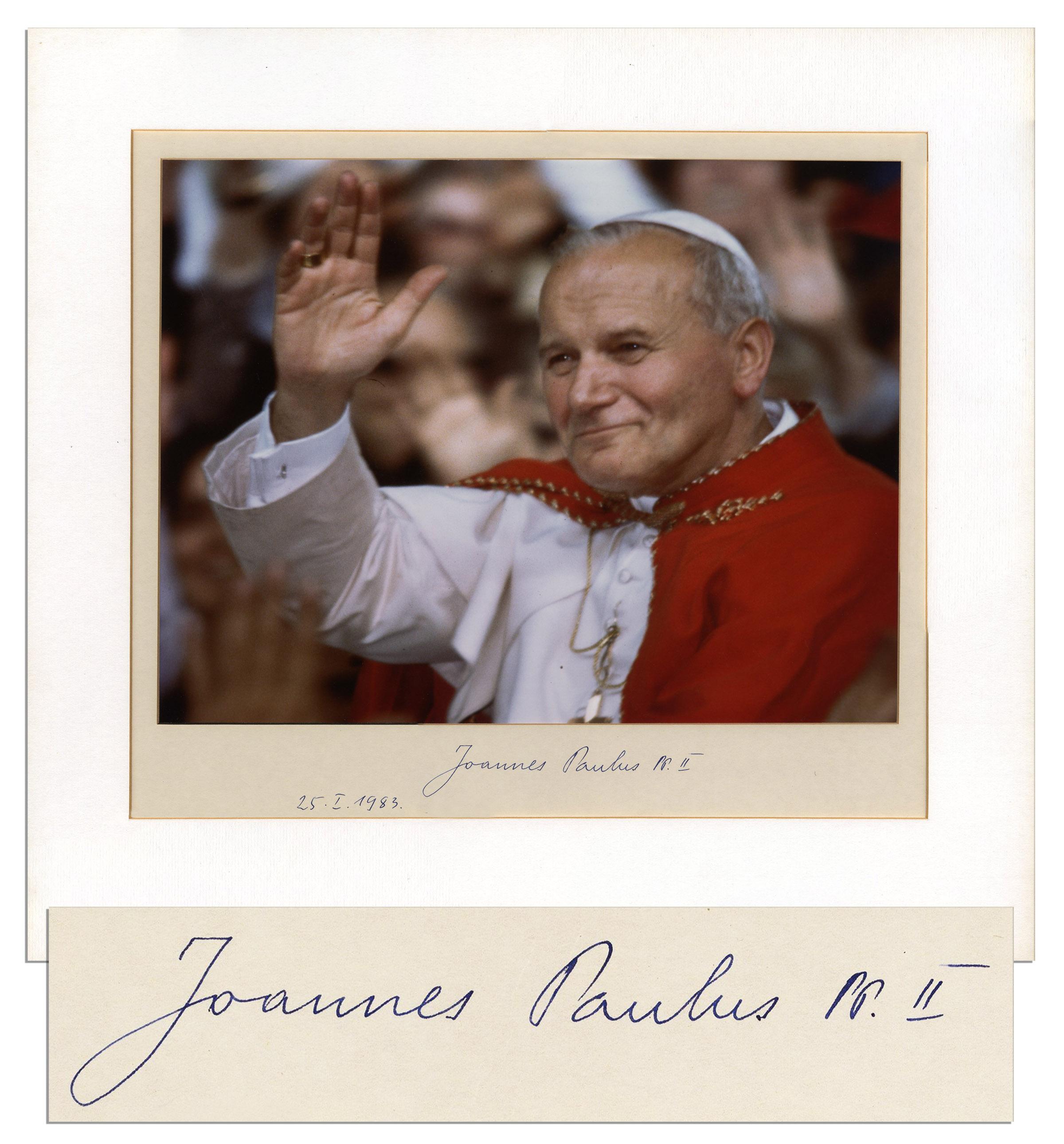 Pope autograph