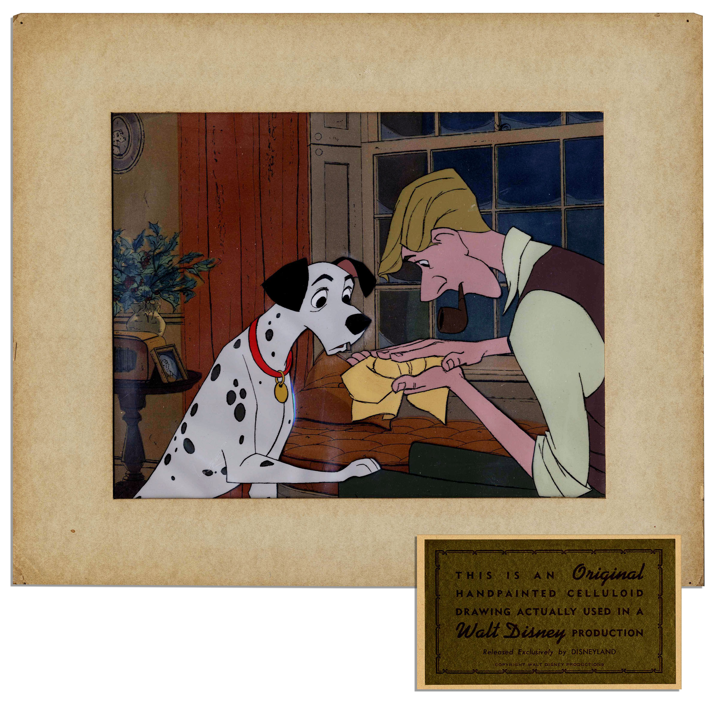 Lot Detail Disney 101 Dalmatians Animation Cel Frame From The