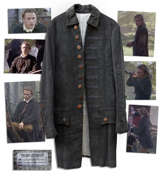 Heath Ledger Screen-Worn Coat From the 2000 Perios Piece Film ''The Patriot''