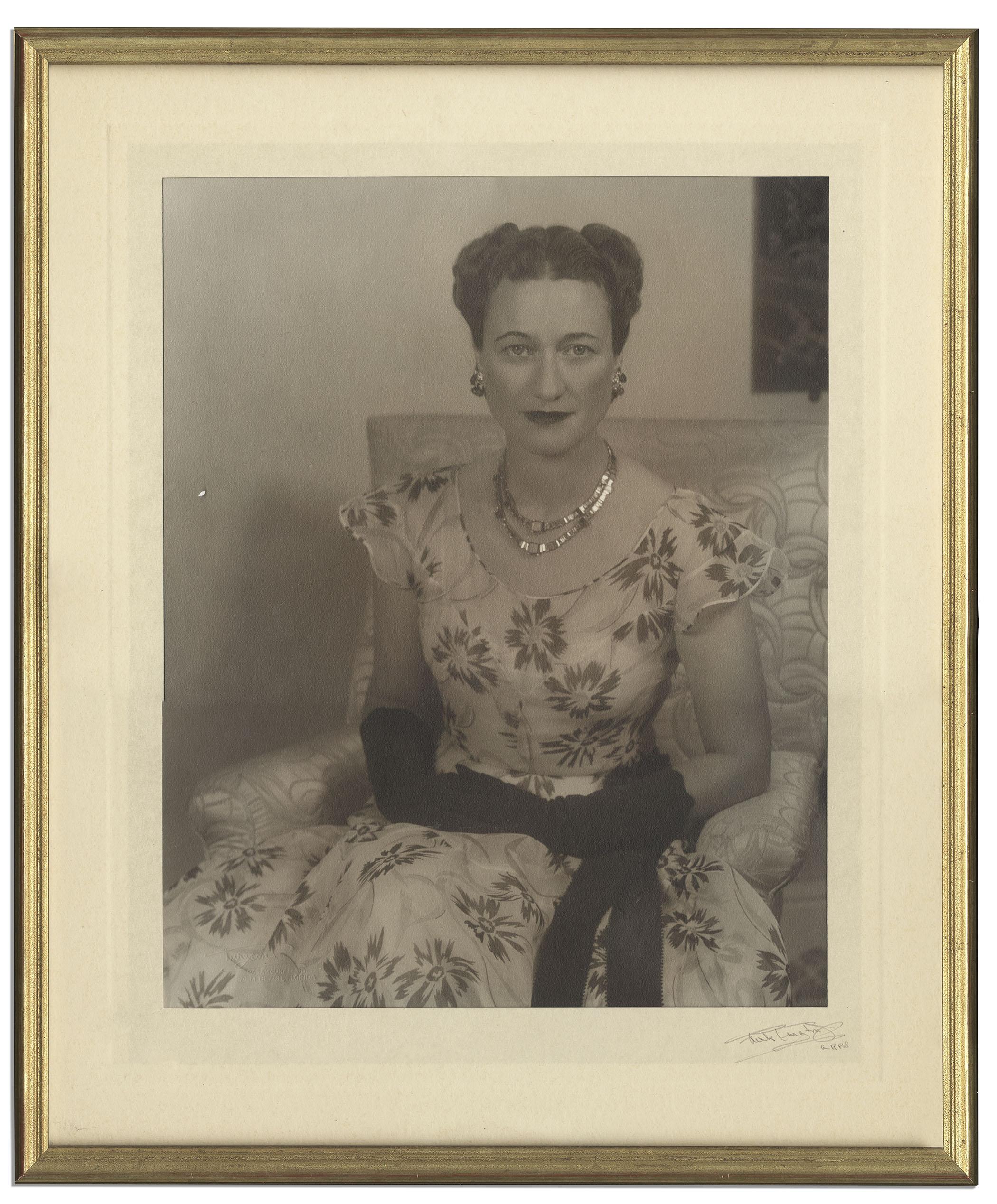 Lot Detail Portrait Of Wallis Simpson Duchess Of