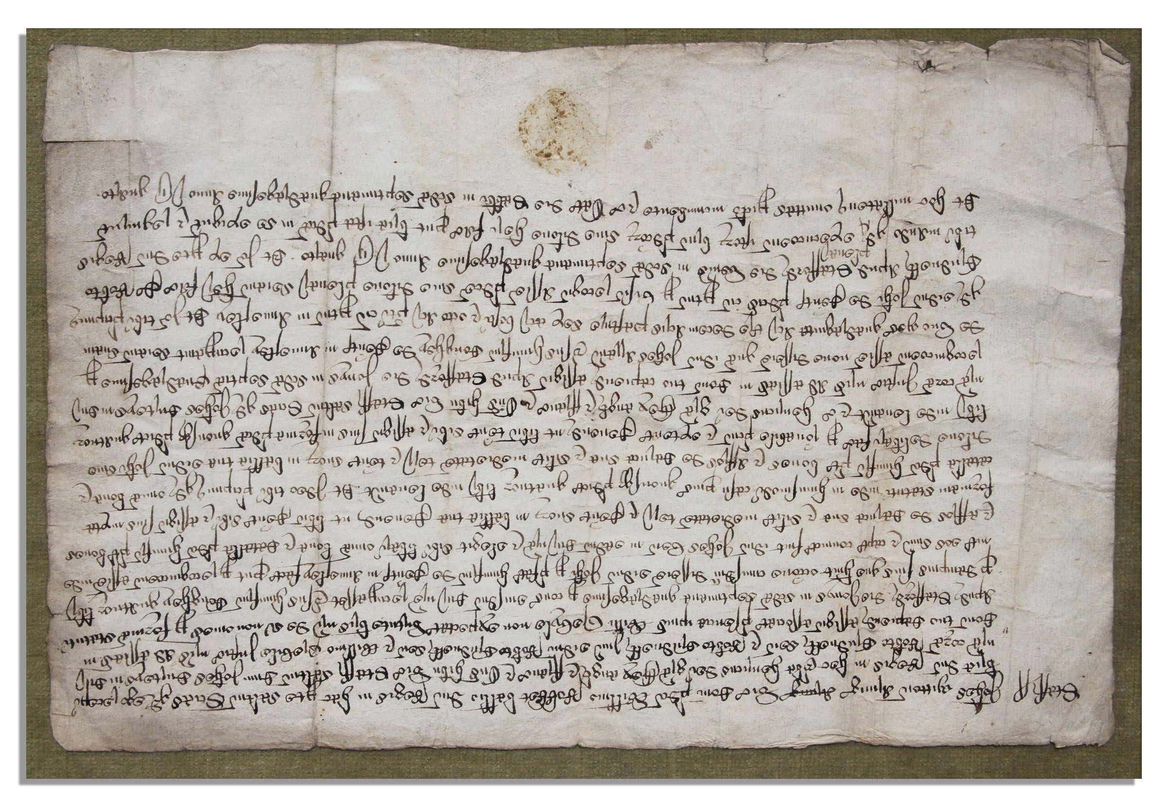 Lot Detail Gothic Old English Document On Paper