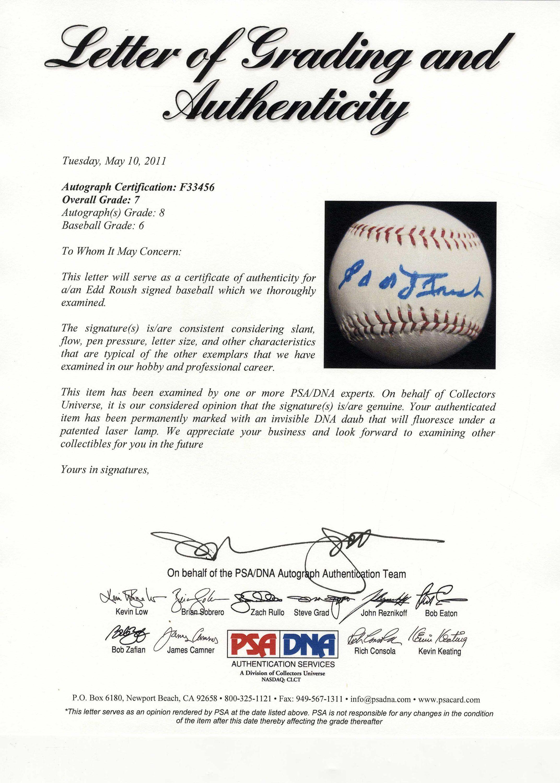 Lot Detail Edd Roush Single Signed Wilson Baseball With Psadna Coa