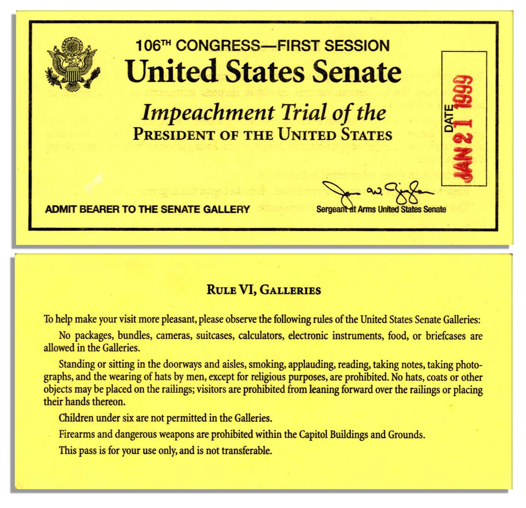 Clinton impeachment timeline