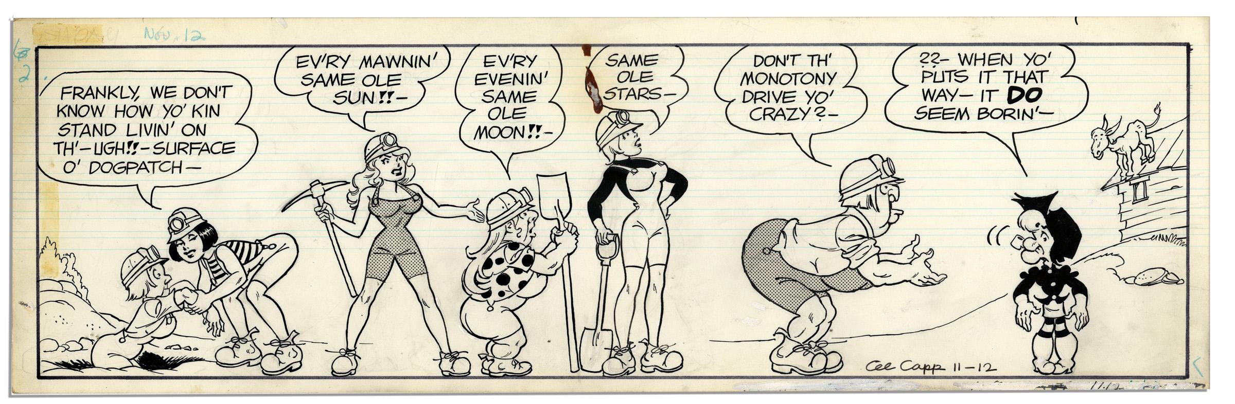Comic strip with mammy yokum