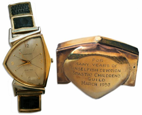 Moe Howard Personally Owned Timepiece With Custom Inscription