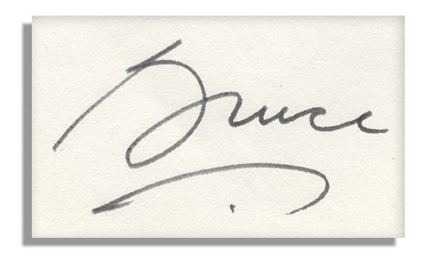 how to send letter lot detail bruce autograph letter signed to his 22358 | 44614i med