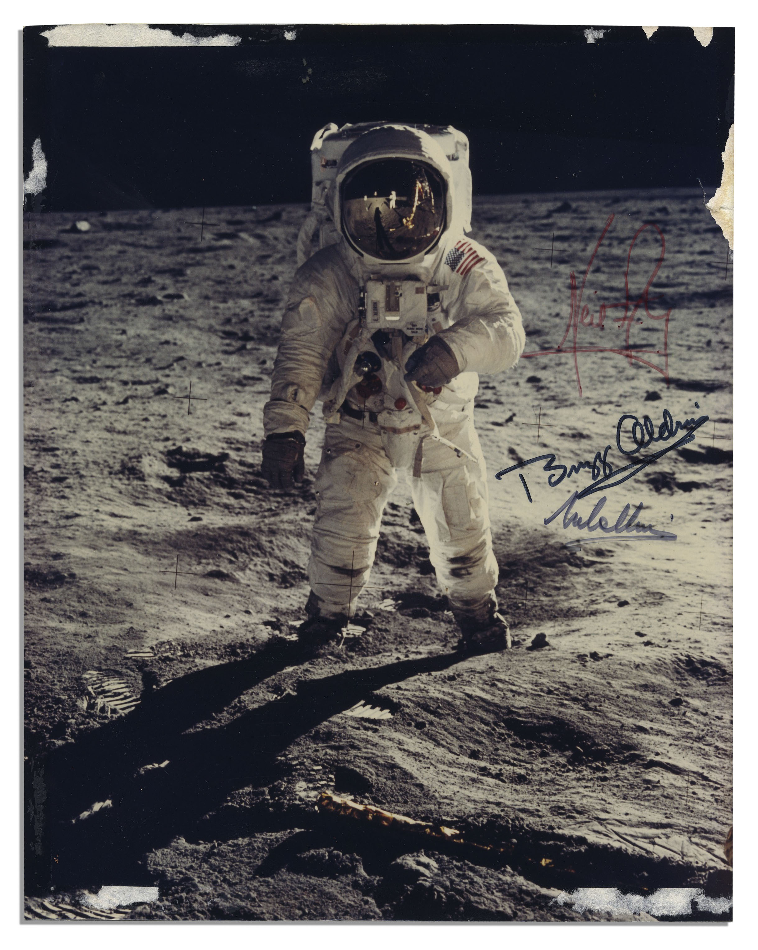 The Most Famous Apollo 11 Photo Signed By The