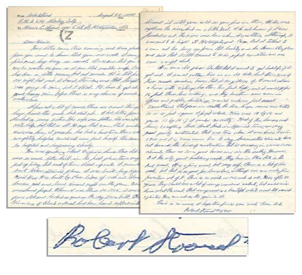 Lot Detail Birdman Of Alcatraz Robert Stroud Autograph