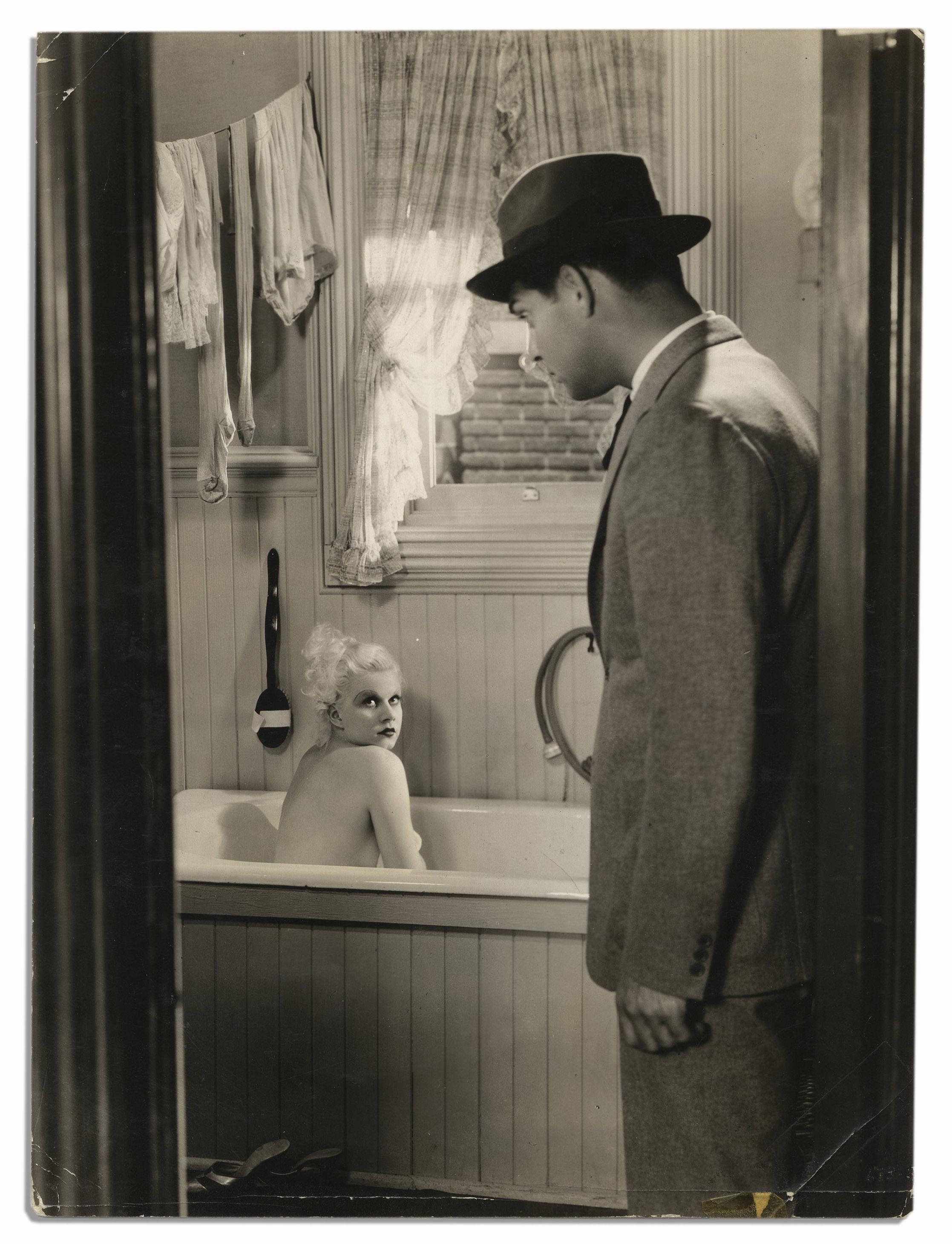 Lot Detail Steamy Movie Still Featuring Clark Gable