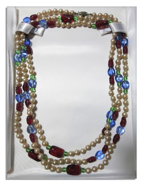 The Duchess of Windsor's Personally Owned Multicolor Necklace -- From The Famed Duke & Duchess Christie's Auction
