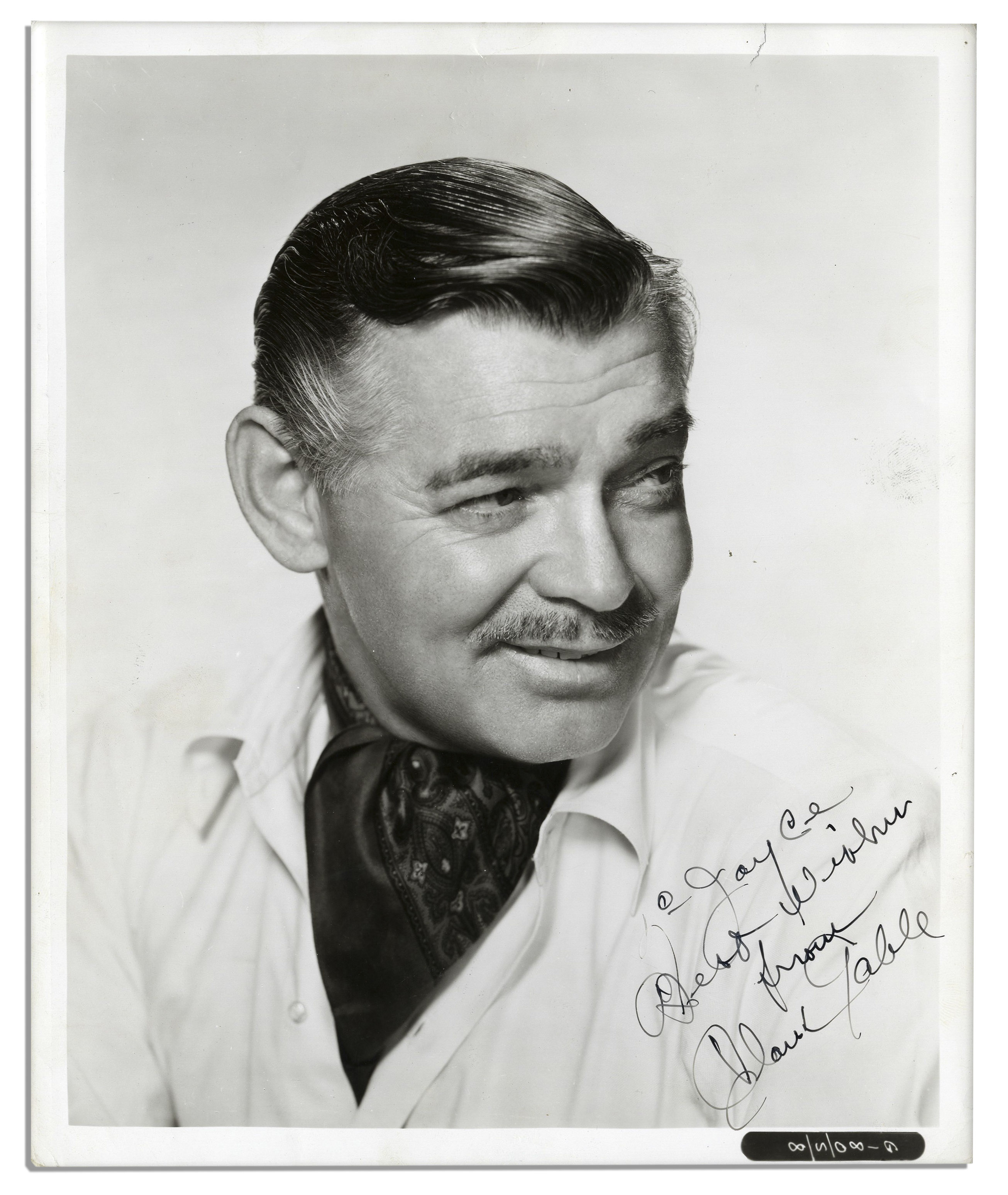 Clark gable 8 x 10 signed photo
