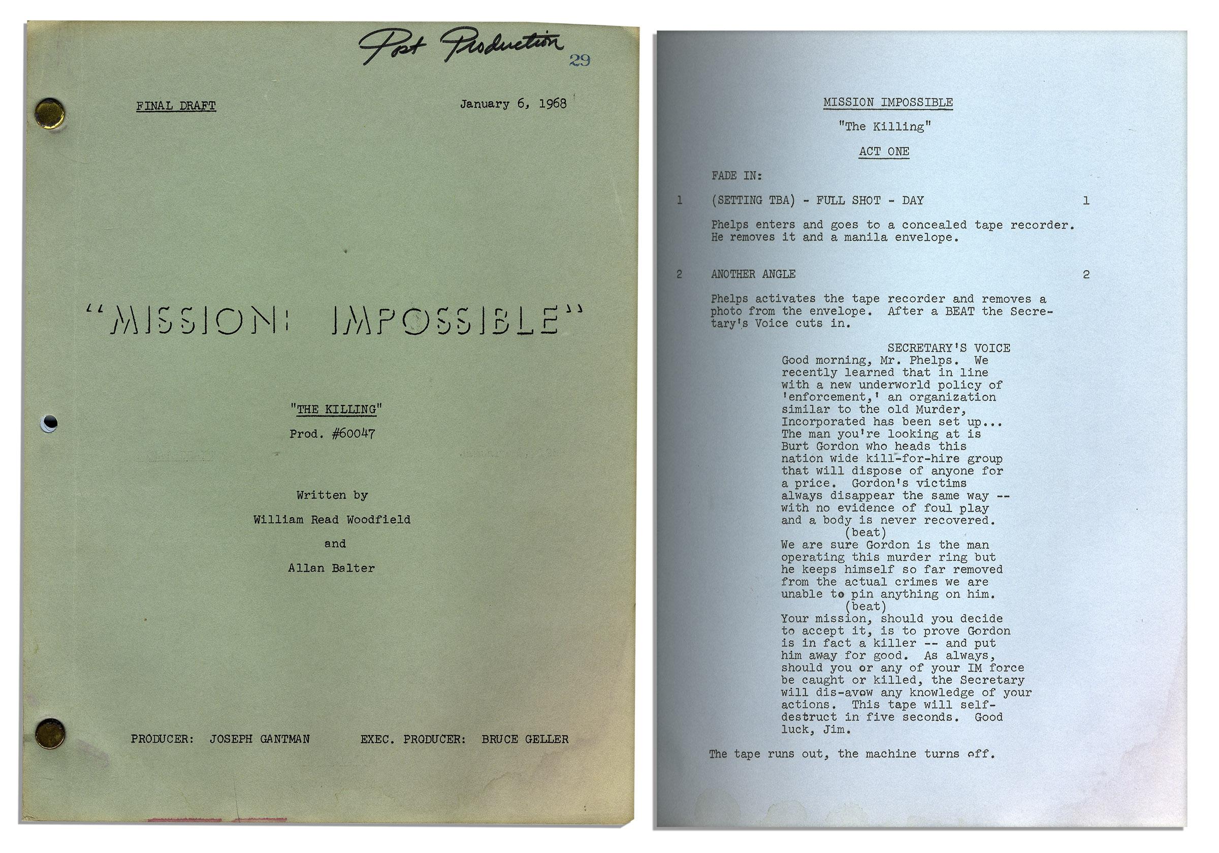 mission impossible script at imsdb autocars blog