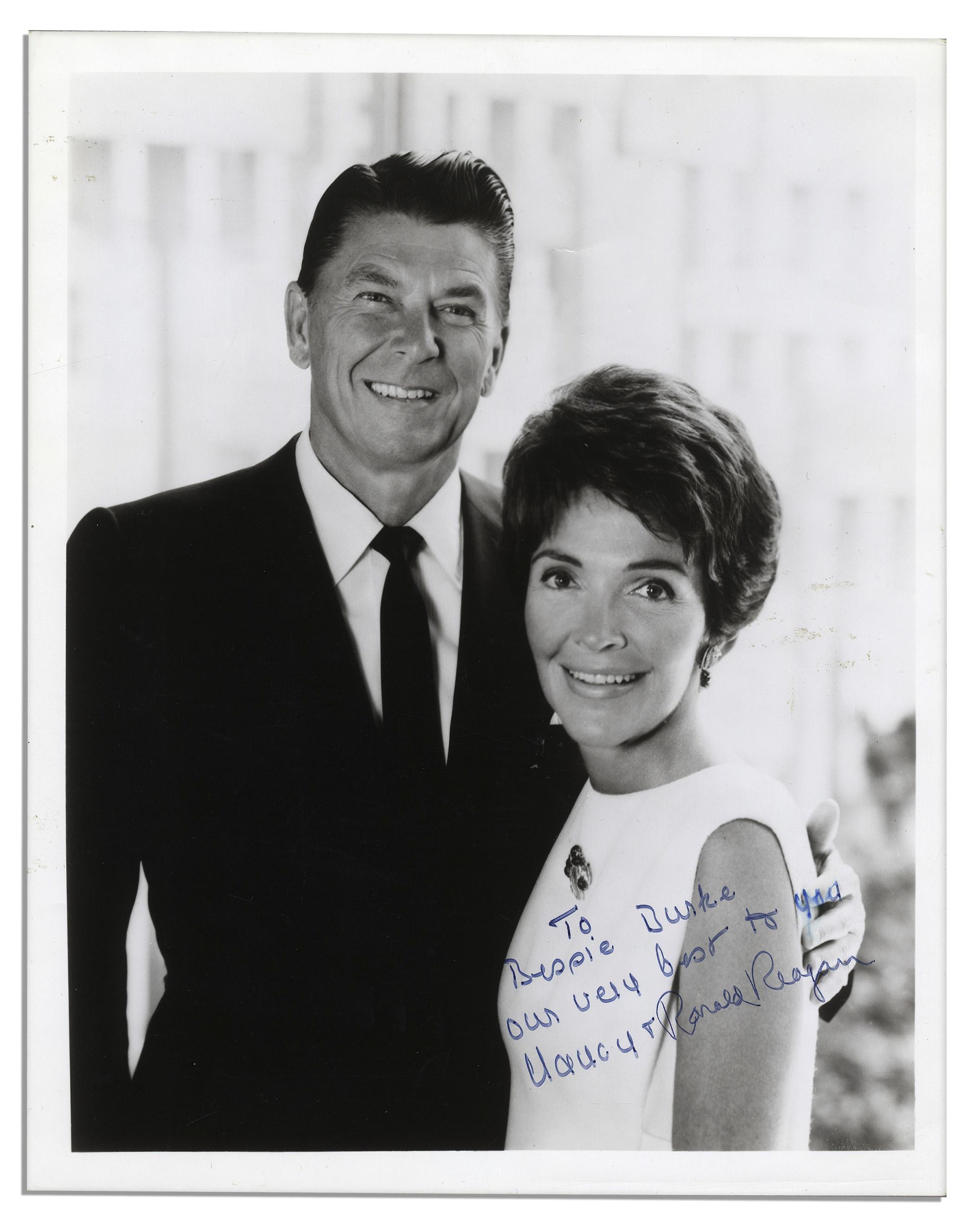 Lot Detail Ronald Reagan Nancy Reagan Signed Inscribed Black