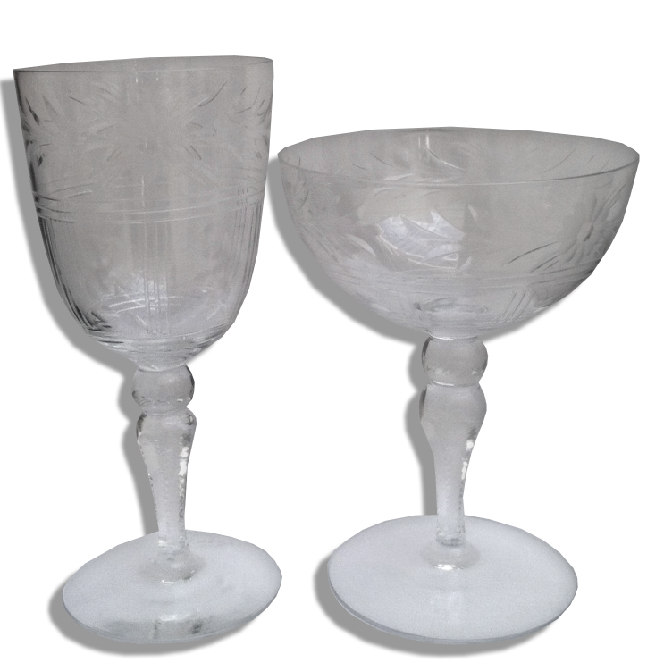 Franklin D. Roosevelt Memorabilia Pair of Franklin Roosevelt Personally Owned Stemware Used at Val-Kill