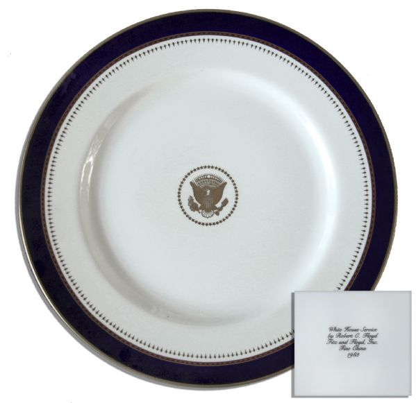 Ronald Reagan Memorabilia Auction Ronald Reagan Presidential China