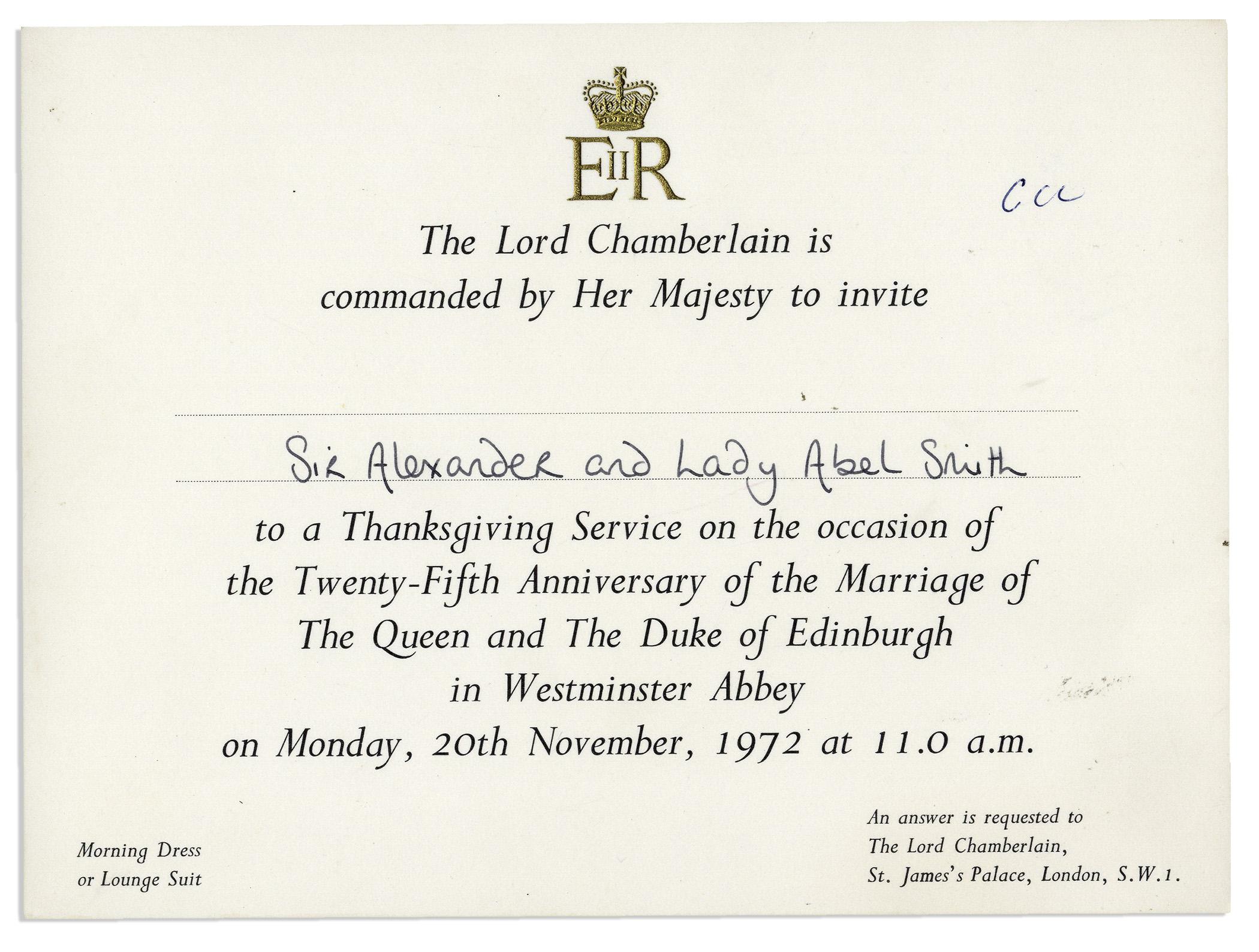 lot detail  royal invitation to the 25th wedding