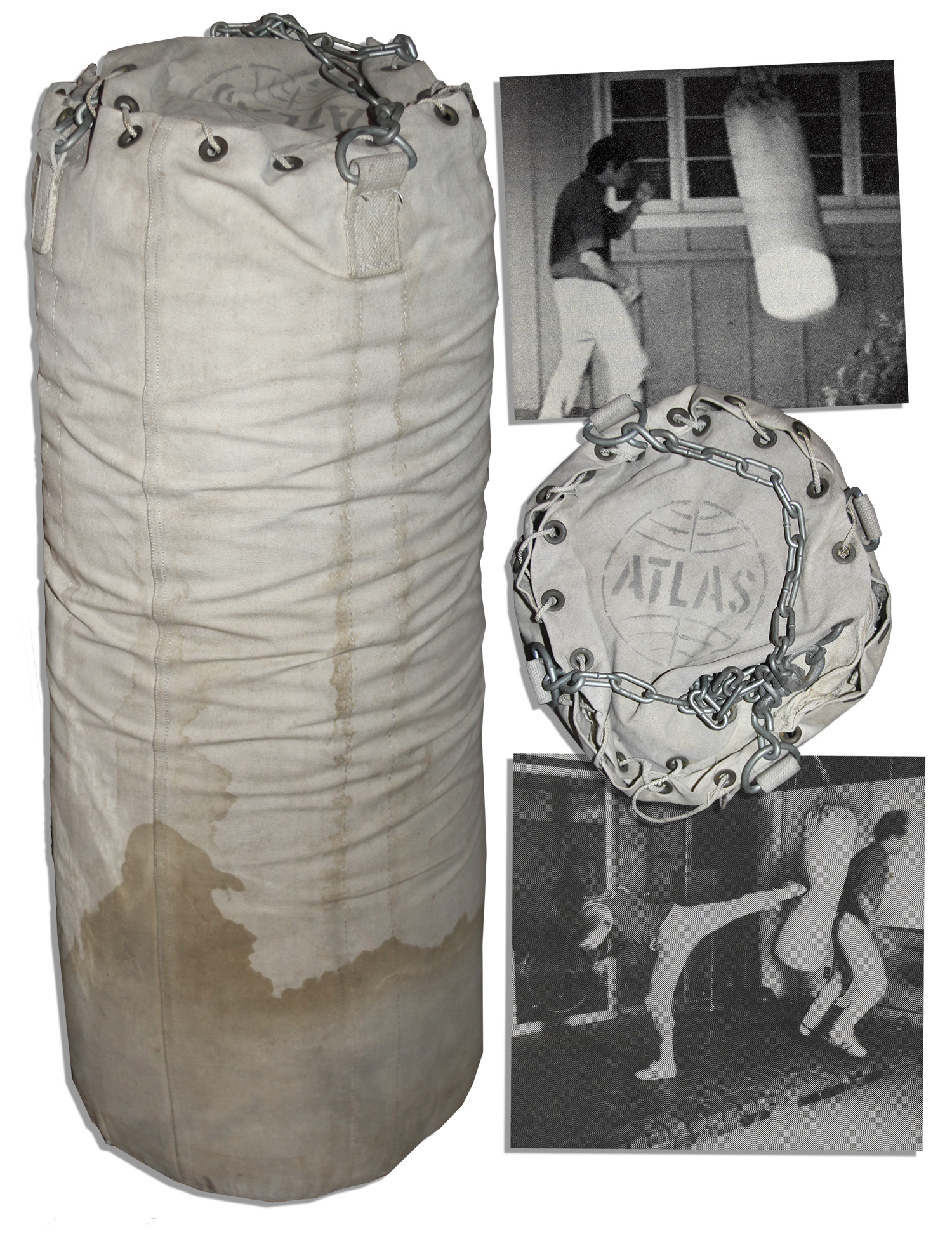 Bruce Lee Personally Owned And Used Heavy Bag