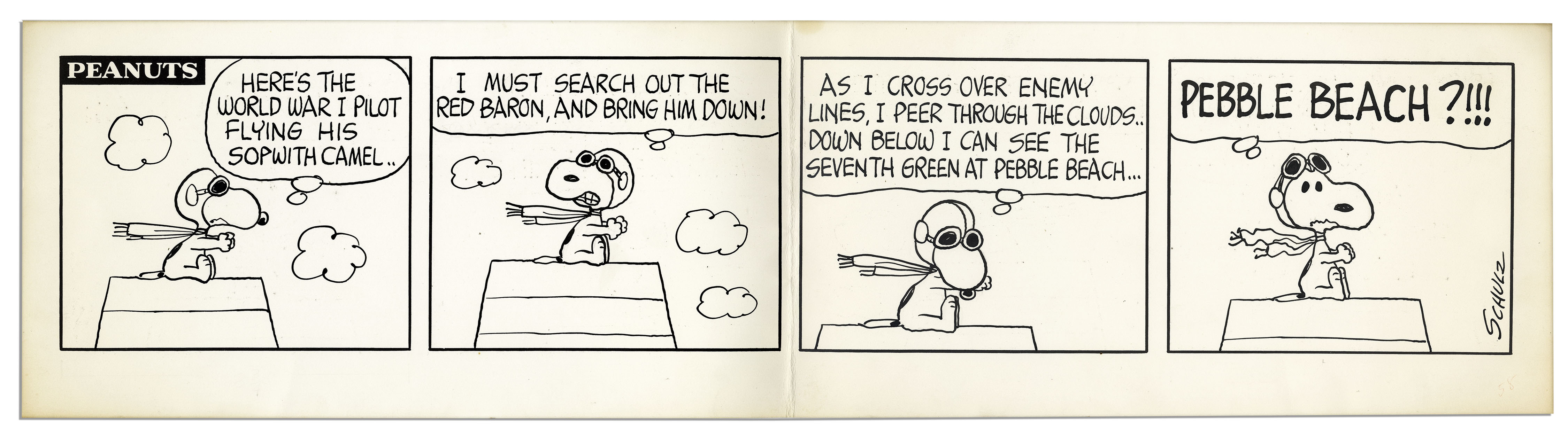 SNOOPY HERE/'S THE WORLD WAR 1 FLYING ACE IN HIS SOPWITH CAMEL