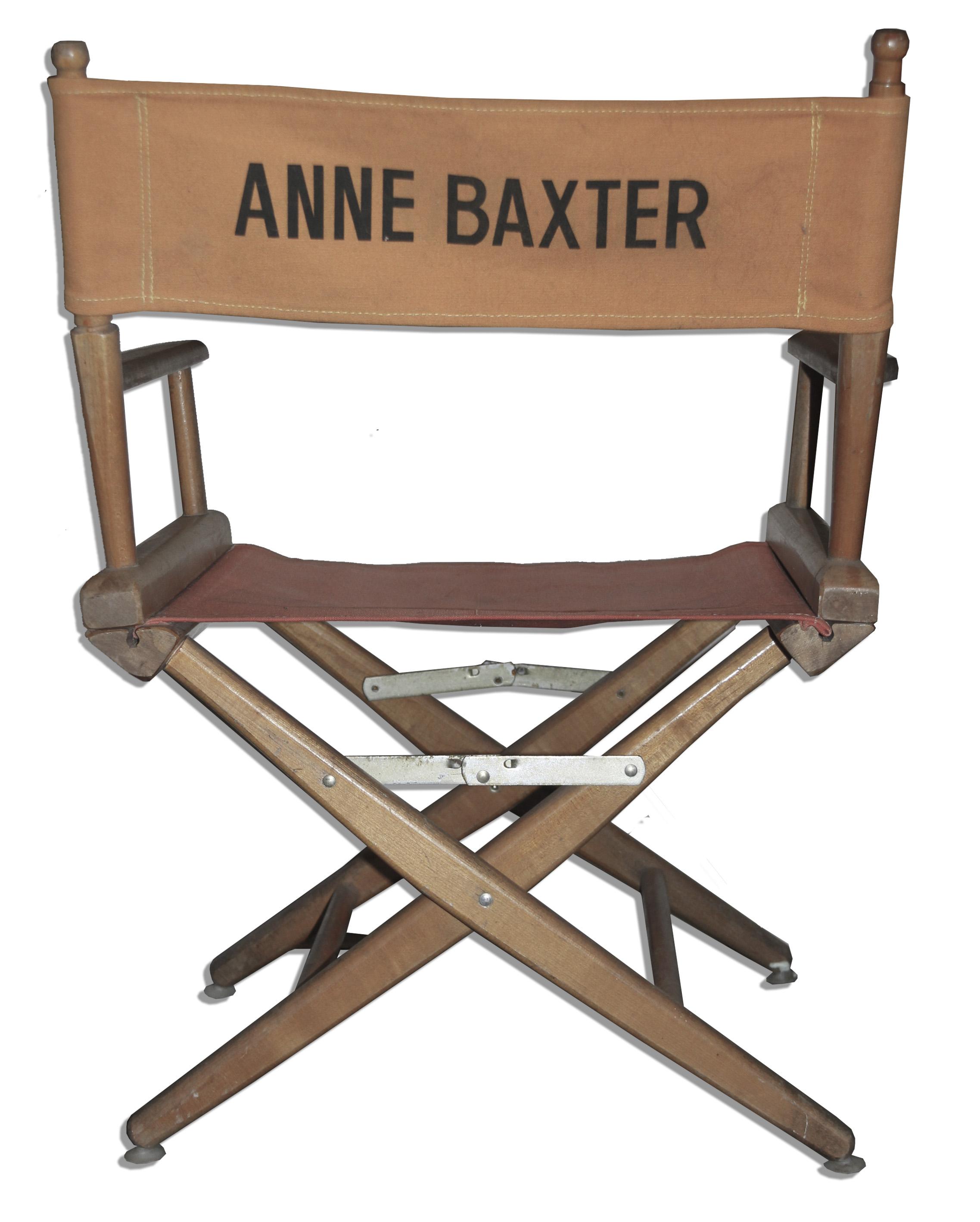 Lot Detail Anne Baxter s Director s Chair