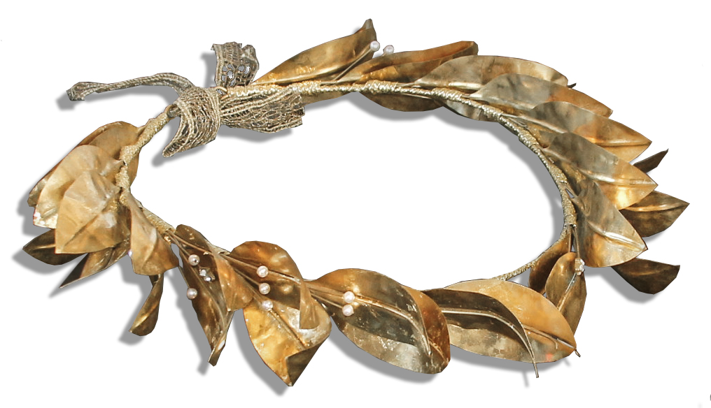 Lot Detail - Leonardo Dicaprio Screen Worn Laurel Crown ...