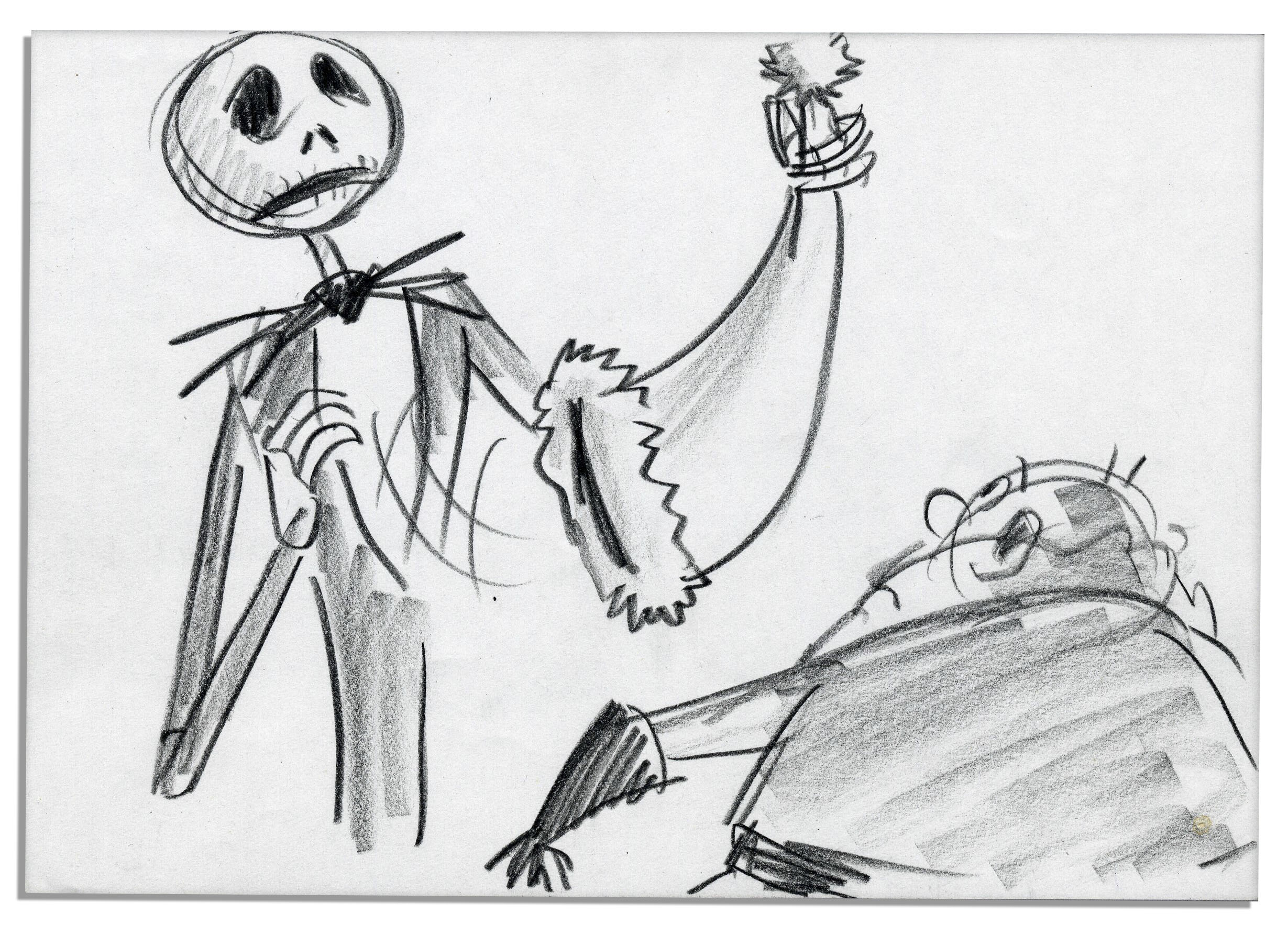 Lot Detail - ''The Nightmare Before Christmas'' Sketches -- Fine