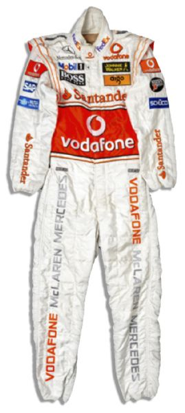 Lewis Hamilton Race Suit Auction Lewis Hamilton Signed McLaren-Mercedes Racesuit Worn in The 2007 German Grand Prix -- With a COA from McLaren Racing