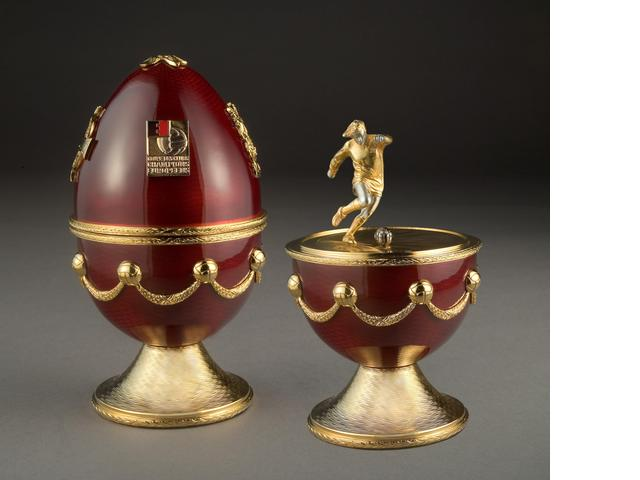 George Best memorabilia George Best Faberge Personally Owned Soccer Trophy