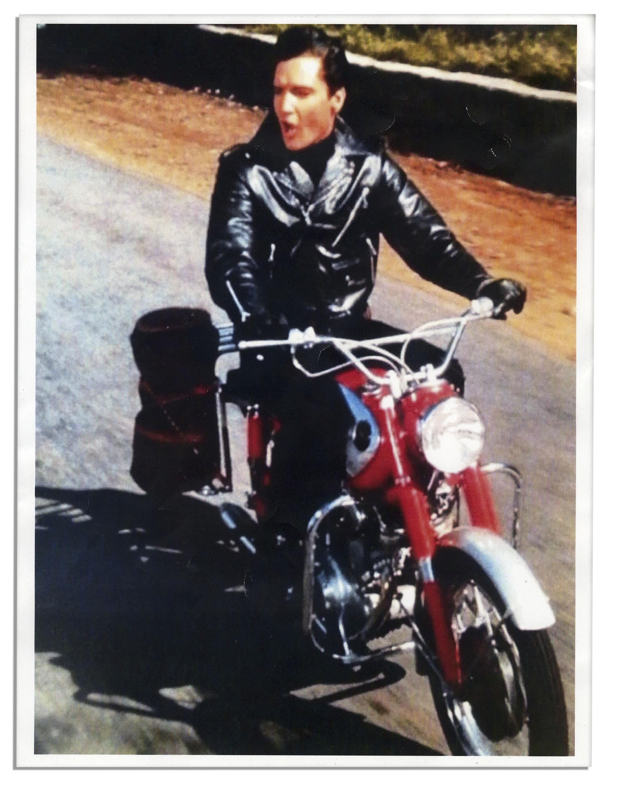 Lot Detail - Elvis Presley Worn Black Leather Harley ...
