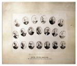 Very Rare & Unusual 12.25 x 8.75 Albumen Photo -- U.S. Senators Attending the Funeral of President Ulysses S. Grant