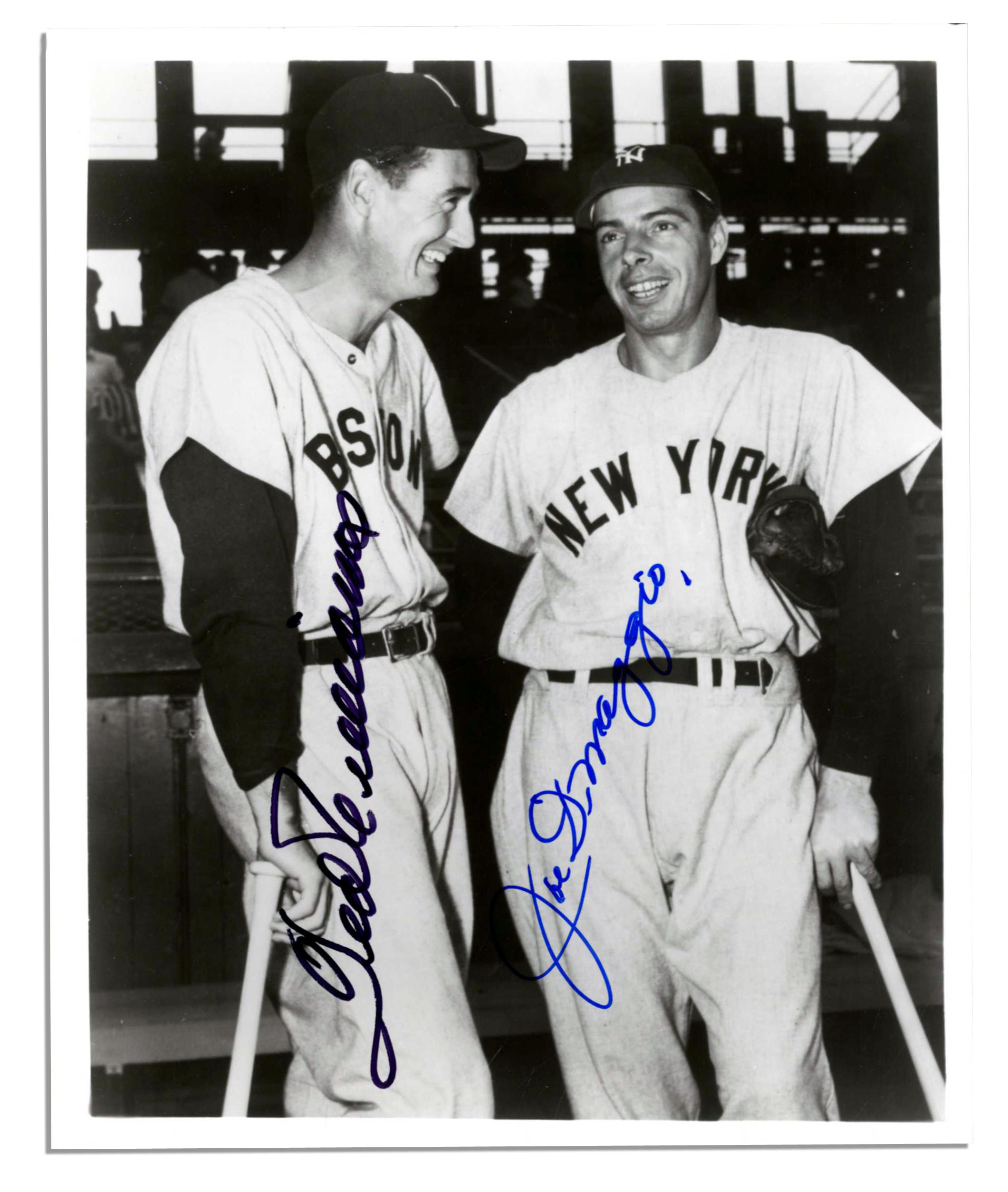 3e28d14bfb6 Lot Detail - Joe DiMaggio and Ted Williams 8   x 10   Signed Photo ...