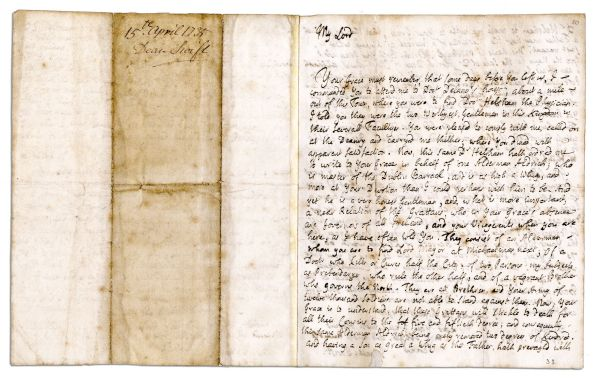 Satirist Jonathan Swift's Very Witty Autograph Letter Signed -- ''...[he] is as high a Whig and more...And yet he is a very honest Gentleman...a Doctor who kills or cures half the city...'' -- 1735