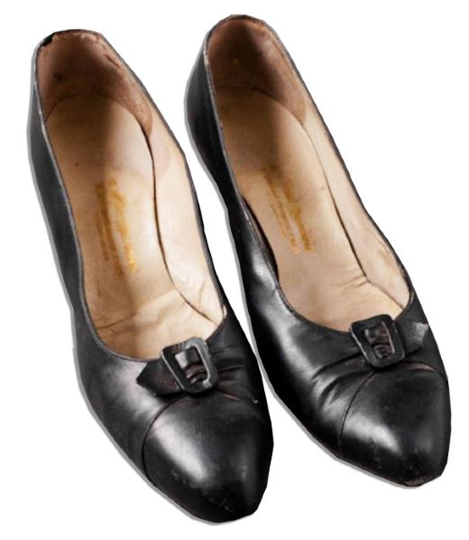 Jackie Kennedy Personally Owned & Worn Court-Style Shoes -- The Style She Popularized -- Shoes by Mancini