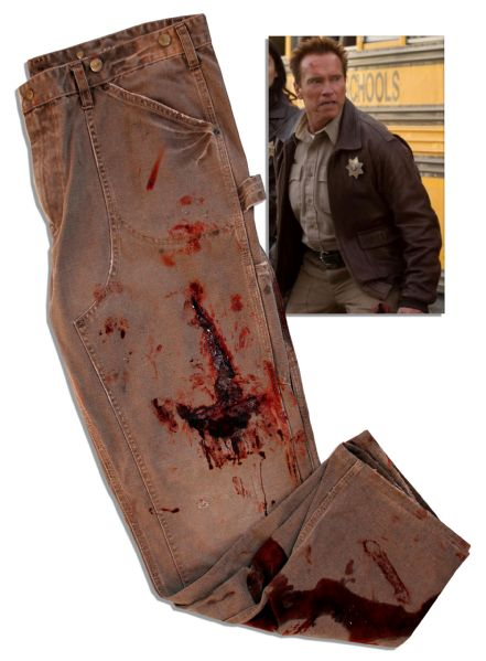 Arnold Schwarzenegger Bloodied Screen-Worn Pants From ''The Last Stand''