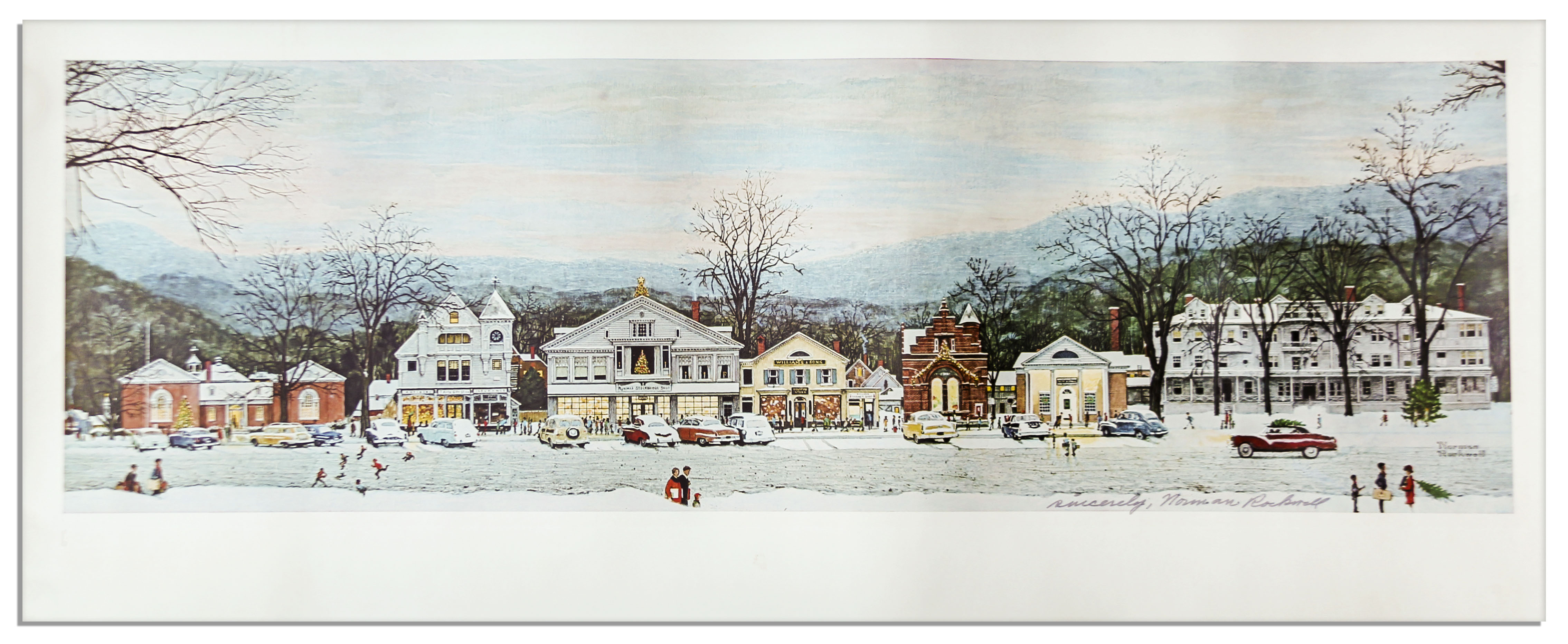 Lot Detail - Master of Americana, Norman Rockwell Signed Print of ...