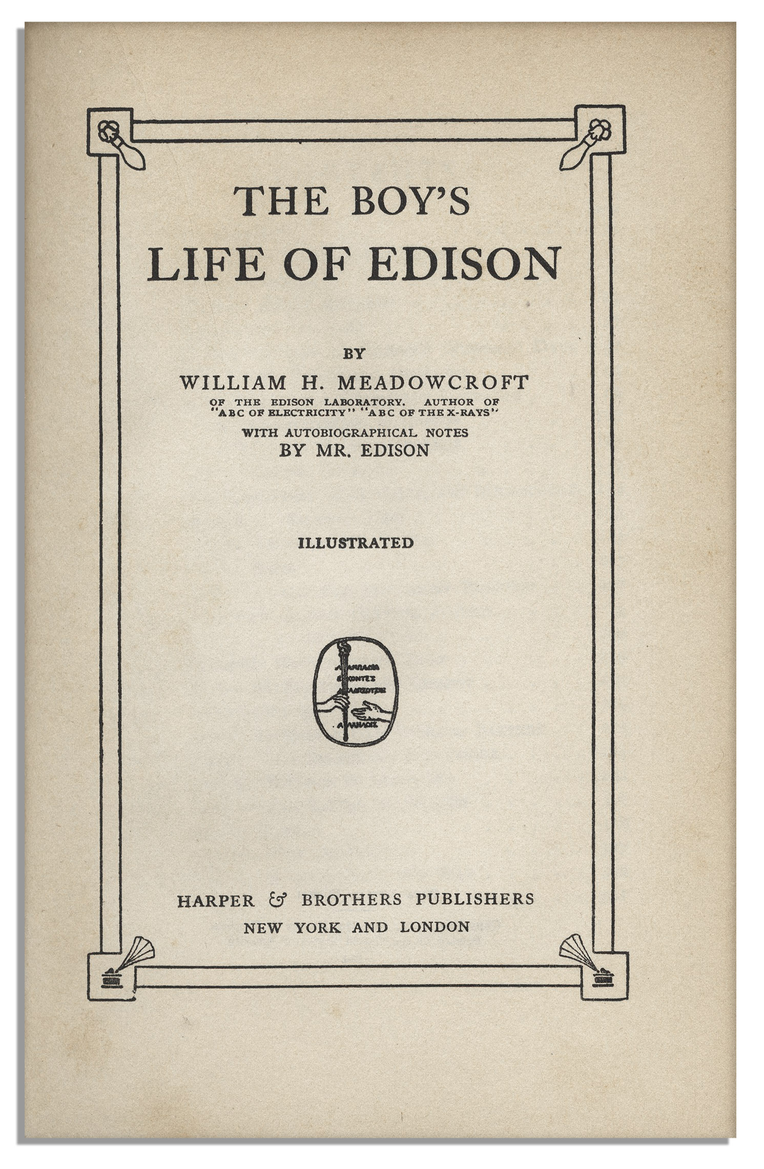 Lot Detail - Elegantly Signed Copy of Thomas Edison's