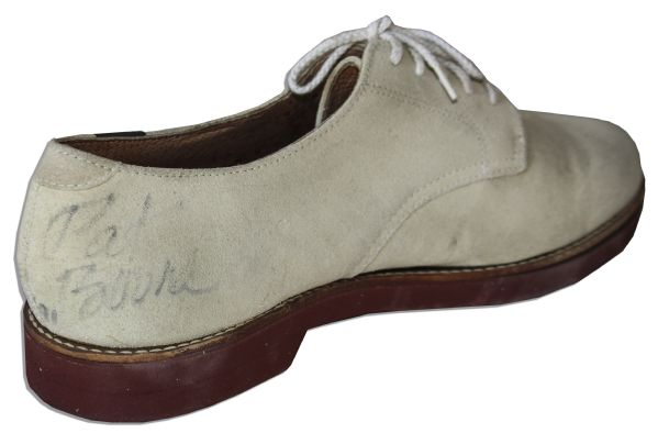 Pat Boone Signed White Shoes -- Signed ''Pat Boone'' on Both Shoes
